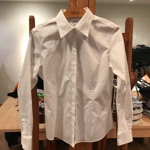 Brooks Brothers White fitted cotton shirt